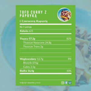Curry z tofu - makro